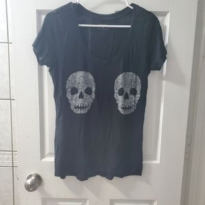 Express size M black tee with skulls